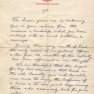 King George V letter to returning POWs – 1918