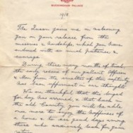 King George V letter to returning POWs – 1918